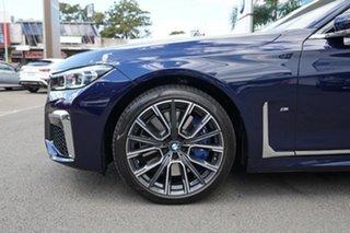 2020 BMW 740i G11 M Sport Tanzanite Blue 8 Speed Auto Steptronic Sport Sedan.
