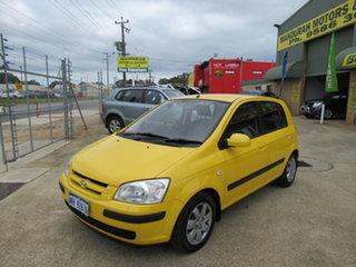 2004 Hyundai Getz TB GL Yellow 4 Speed Automatic Hatchback.