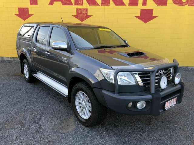 Used Toyota Hilux KUN26R MY14 SR5 Double Cab, 2013 Toyota Hilux KUN26R MY14 SR5 Double Cab Silver 5 Speed Manual Utility