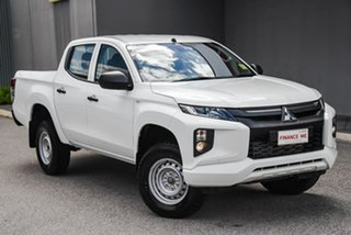 2019 Mitsubishi Triton MR MY20 GLX Double Cab ADAS White 6 Speed Manual Utility.