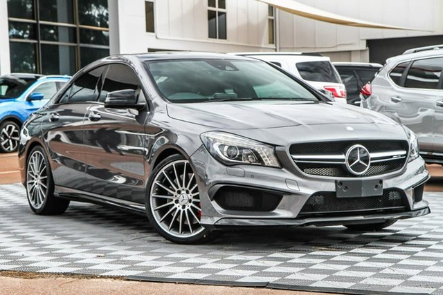 Used Mercedes-Benz CLA-Class C117 806MY CLA45 AMG SPEEDSHIFT DCT 4MATIC, 2016 Mercedes-Benz CLA-Class C117 806MY CLA45 AMG SPEEDSHIFT DCT 4MATIC Grey 7 Speed