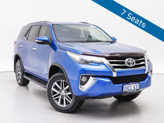 2016 Toyota Fortuner GUN156R Crusade Blue 6 Speed Automatic Wagon.