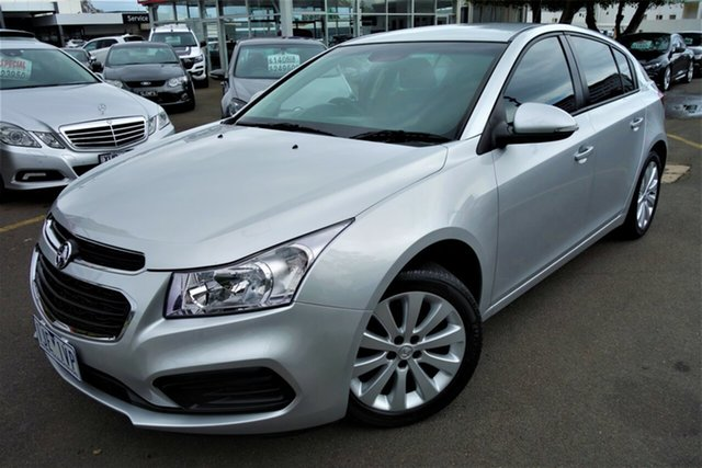 Used Holden Cruze JH Series II MY16 Equipe, 2016 Holden Cruze JH Series II MY16 Equipe Silver 6 Speed Sports Automatic Hatchback