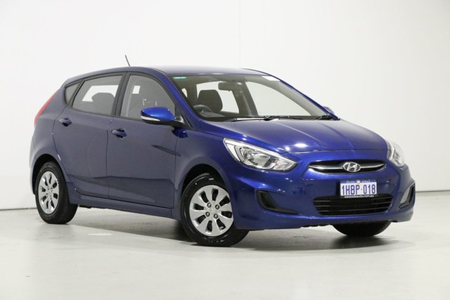 Used Hyundai Accent RB3 MY16 Active, 2016 Hyundai Accent RB3 MY16 Active Blue 6 Speed CVT Auto Sequential Hatchback