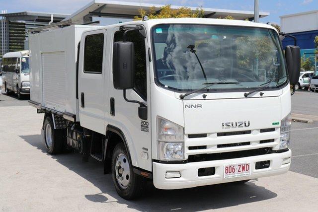 Used Isuzu NNR 200 Crew Cab Robina, 2011 Isuzu NNR 200 Crew Cab White Automatic Box Body
