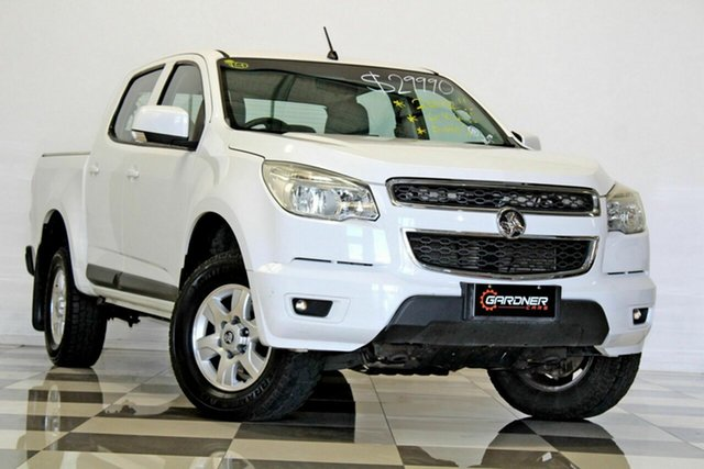 Used Holden Colorado RG LT (4x4), 2012 Holden Colorado RG LT (4x4) White 6 Speed Automatic Crew Cab Pickup