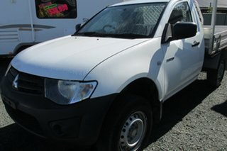 2011 Mitsubishi Triton MN MY11 GL 4x2 White 5 Speed Manual Cab Chassis.