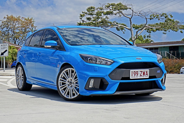 Used Ford Focus LZ RS AWD Capalaba, 2017 Ford Focus LZ RS AWD Blue 6 Speed Manual Hatchback