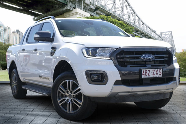 Used Ford Ranger PX MkIII 2020.25MY Wildtrak, 2020 Ford Ranger PX MkIII 2020.25MY Wildtrak White 10 Speed Sports Automatic Double Cab Pick Up