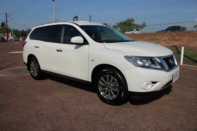 Used Nissan Pathfinder R52 MY15 ST X-tronic 2WD, 2015 Nissan Pathfinder R52 MY15 ST X-tronic 2WD White 1 Speed Continuous Variable Wagon