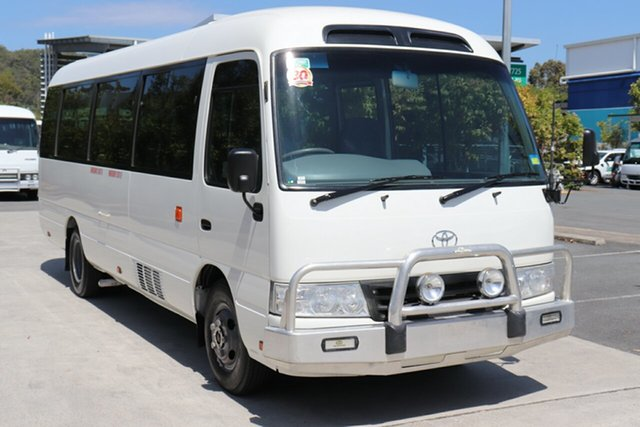 Used Toyota Coaster XZB50R Deluxe, 2009 Toyota Coaster XZB50R Deluxe French Vanilla Manual Midi Coach