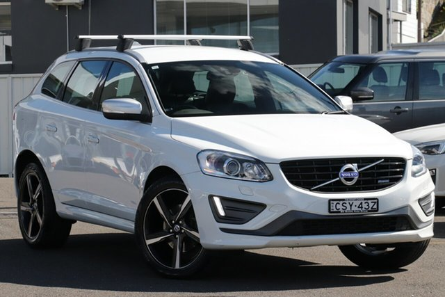 Used Volvo XC60 DZ MY14 D5 Geartronic AWD R-Design, 2014 Volvo XC60 DZ MY14 D5 Geartronic AWD R-Design White 6 Speed Sports Automatic Wagon