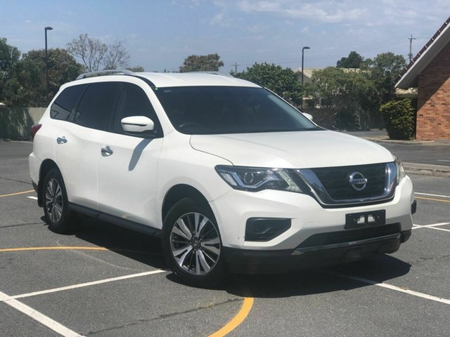 Used Nissan Pathfinder R52 Series II MY17 ST X-tronic 2WD Chermside, 2017 Nissan Pathfinder R52 Series II MY17 ST X-tronic 2WD White 1 Speed Constant Variable Wagon