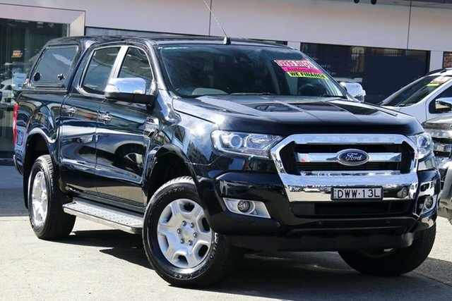 Used Ford Ranger PX MkIII MY19 XLT 3.2 (4x4), 2018 Ford Ranger PX MkIII MY19 XLT 3.2 (4x4) Black 6 Speed Automatic Double Cab Pick Up