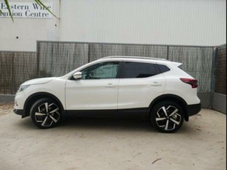 2019 Nissan Qashqai J11 MY18 TI White Continuous Variable Wagon