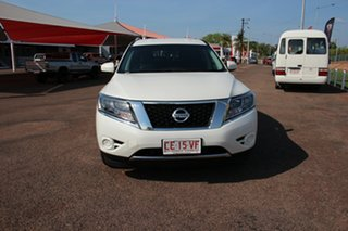 2015 Nissan Pathfinder R52 MY15 ST X-tronic 2WD White 1 Speed Continuous Variable Wagon.