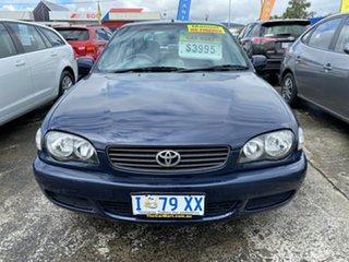2000 Toyota Corolla AE112R Ascent Seca Blue 5 Speed Manual Liftback.