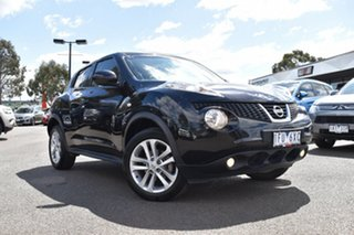 2014 Nissan Juke F15 MY14 ST 2WD Black 1 Speed Constant Variable Hatchback.