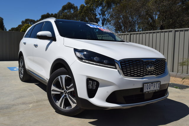 Used Kia Sorento UM MY20 GT-Line AWD Echuca, 2019 Kia Sorento UM MY20 GT-Line AWD Clear White 8 Speed Sports Automatic Wagon