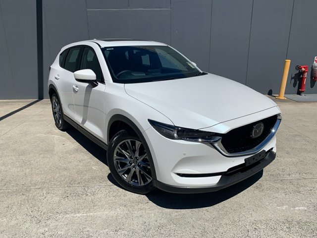 New Mazda CX-5 KF4W2A Akera SKYACTIV-Drive i-ACTIV AWD Alexandria, 2020 Mazda CX-5 KF4W2A Akera SKYACTIV-Drive i-ACTIV AWD Snowflake White 6 Speed Sports Automatic