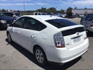 2008 Toyota Prius NHW20R MY06 Upg I-Tech (Hybrid) White Continuous Variable Hatchback
