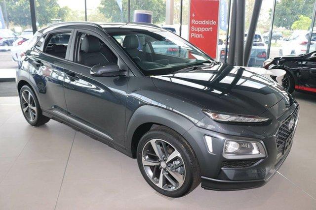 New Hyundai Kona OS.3 MY20 Highlander 2WD Mount Gravatt, 2020 Hyundai Kona OS.3 MY20 Highlander 2WD Dark Knight 6 Speed Sports Automatic Wagon