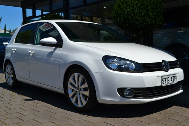 Used Volkswagen Golf VI MY12.5 118TSI Comfortline, 2012 Volkswagen Golf VI MY12.5 118TSI Comfortline White 6 Speed Manual Hatchback