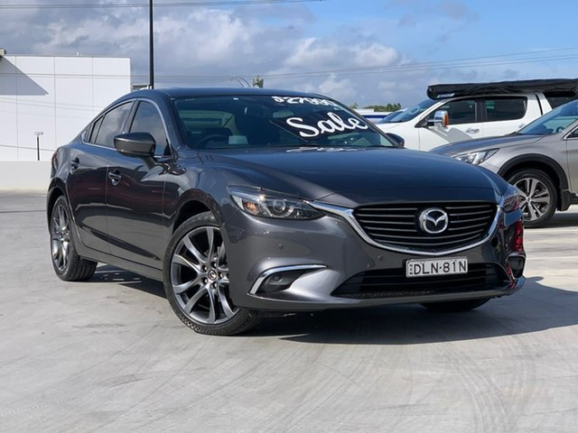 Used Mazda 6 GJ1032 GT SKYACTIV-Drive Liverpool, 2016 Mazda 6 GJ1032 GT SKYACTIV-Drive Grey 6 Speed Sports Automatic Sedan