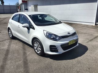 2015 Kia Rio UB MY15 S-Premium White 4 Speed Sports Automatic Hatchback.