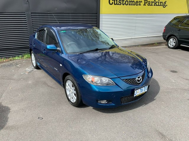 Used Mazda 3 BK10F2 MZR-CD Launceston, 2007 Mazda 3 BK10F2 MZR-CD Blue 6 Speed Manual Sedan