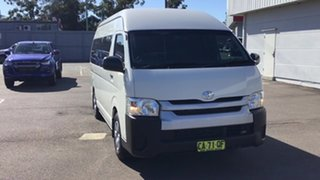 2014 Toyota HiAce TRH223R MY14 Commuter High Roof Super LWB White 4 Speed Automatic Bus.