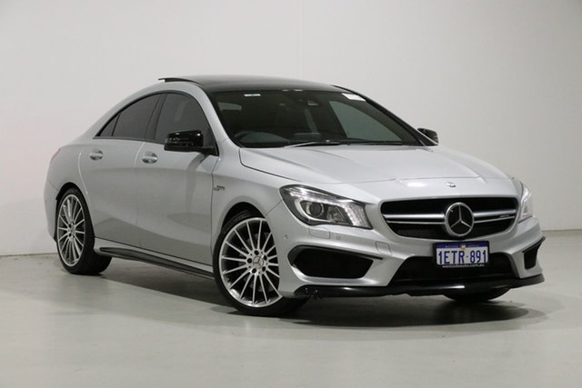 Used Mercedes-Benz CLA45 117 MY15 AMG, 2015 Mercedes-Benz CLA45 117 MY15 AMG Silver 7 Speed Automatic Coupe