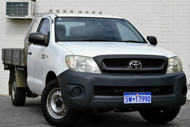 Used Toyota Hilux TGN16R MY10 Workmate 4x2, 2009 Toyota Hilux TGN16R MY10 Workmate 4x2 White 5 Speed Manual Cab Chassis