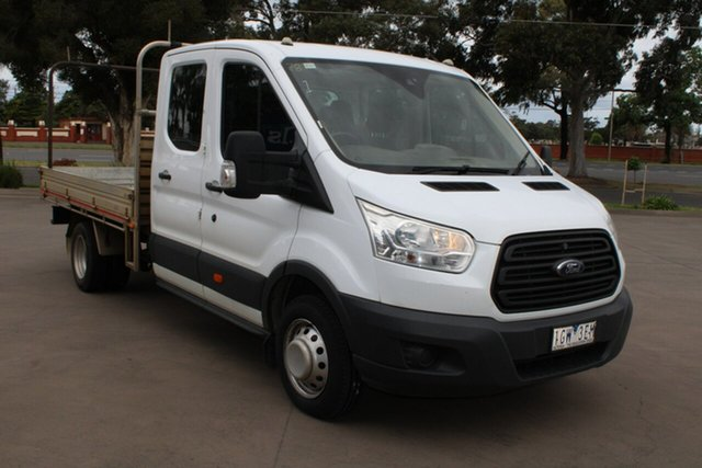Used Ford Transit VO MY17.25 470E LWB West Footscray, 2016 Ford Transit VO MY17.25 470E LWB White 6 Speed Manual Dual Cab Chassis