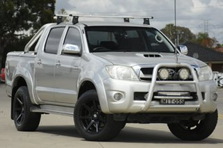 2011 Toyota Hilux KUN26R MY12 SR5 Double Cab Silver 4 Speed Automatic Utility.