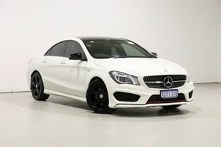 2014 Mercedes-Benz CLA250 117 MY15 4Matic White 7 Speed Automatic Coupe.