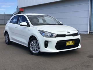 2019 Kia Rio YB MY19 S White 4 Speed Sports Automatic Hatchback.