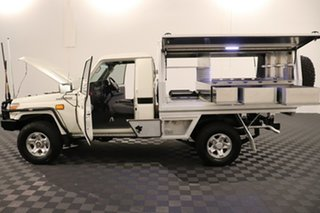 2016 Toyota Landcruiser VDJ79R GXL French Vanilla 5 speed Manual Cab Chassis