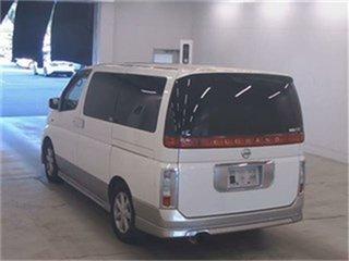 2002 Nissan Elgrand NE51 X White Automatic Wagon.