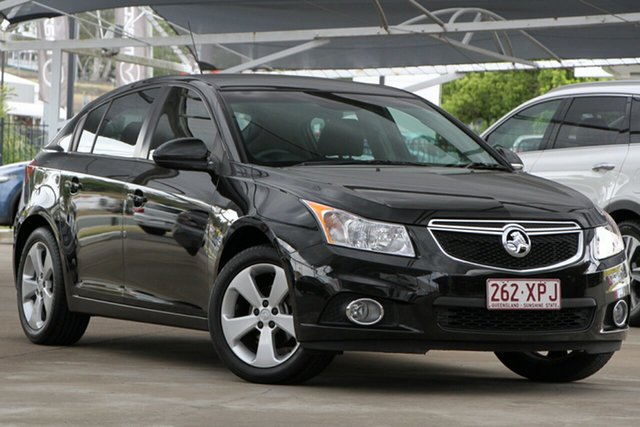 Used Holden Cruze JH Series II MY14 Equipe, 2014 Holden Cruze JH Series II MY14 Equipe Black 6 Speed Sports Automatic Hatchback