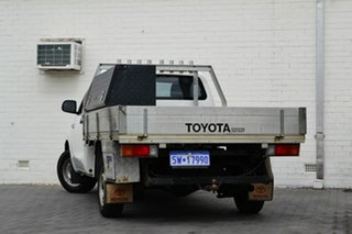 2009 Toyota Hilux TGN16R MY10 Workmate 4x2 White 5 Speed Manual Cab Chassis