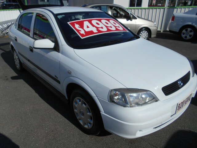 Used Holden Astra TS MY03 City Springwood, 2002 Holden Astra TS MY03 City White 5 Speed Manual Hatchback
