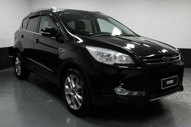 Used Ford Kuga TF MY15 Trend PwrShift AWD, 2014 Ford Kuga TF MY15 Trend PwrShift AWD Black 6 Speed Automatic Wagon