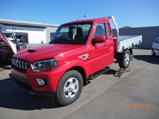 2020 Mahindra Pik-Up MY20 4WD S6+ Red Rage 6 Speed Manual Cab Chassis