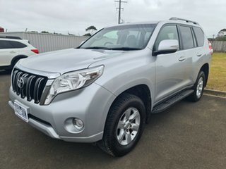2014 Toyota Landcruiser Prado KDJ150R MY14 GXL Classic Silver 5 Speed Sports Automatic Wagon.