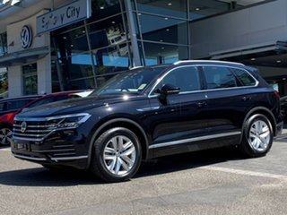 2020 Volkswagen Touareg CR MY20 190TDI Tiptronic 4MOTION Adventure Black 8 Speed Sports Automatic.