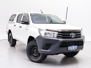2016 Toyota Hilux GUN125R Workmate (4x4) White 6 Speed Automatic Dual Cab Utility.