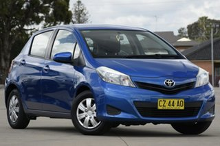 2012 Toyota Yaris NCP130R YR Blue 4 Speed Automatic Hatchback.