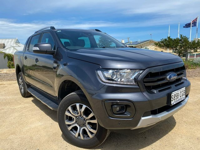 Used Ford Ranger PX MkIII 2019.75MY Wildtrak Christies Beach, 2019 Ford Ranger PX MkIII 2019.75MY Wildtrak Grey 6 Speed Sports Automatic Double Cab Pick Up