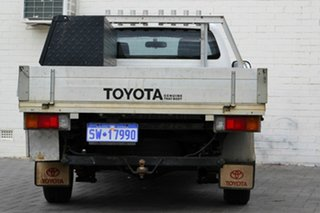 2009 Toyota Hilux TGN16R MY10 Workmate 4x2 White 5 Speed Manual Cab Chassis.